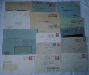 144 interessante Briefe Deutsches Reich mit Sonder & Werbestempeln (101291)