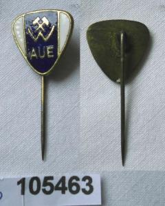 Emaillierte DDR Anstecknadel Sportverein Wismut Aue (105463)
