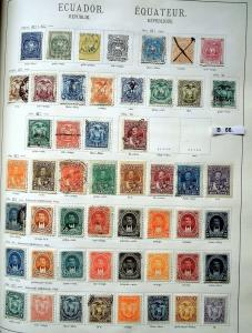 Schöne hochwertige Briefmarkensammlung Ecuador 1865 bis 1935