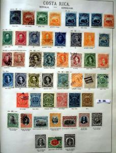 Schöne hochwertige Briefmarkensammlung Costa Rica 1862 bis 1923