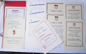 DDR Konvolut mit über 10 Urkunden und Dokumenten der Stadt Meerane (114594)