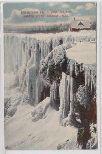 83619 Ak Niagara Falls mit gefrorenen Wasserfällen 1914