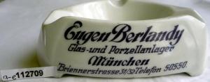 Werbe-Aschenbecher aus Porzellan Eugen Berlandy / Bauscher um 1940 (112709)