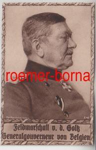 46622 Wohlfahrtskarte Feldmarschall v.d. Göltz Generalgouverneur v. Belgien 1915