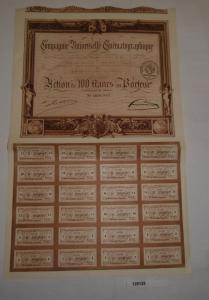 100 Franc Aktie Compagnie Universelle Cinématographique Paris 1919 (128125)