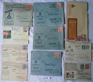 24 seltene alte Briefe und Karten Deutschland mit Werbeaufdruck vor 1945(113585)