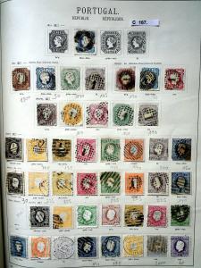 Seltene Briefmarkensammlung Portugal 1853 bis 1937 fast komplett