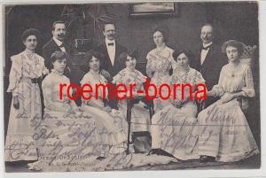 79852 Foto Ak Damen orchester Direktor N.L.Szabo 1910