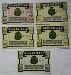 5 Banknoten Notgeld Wiesbaden Dr.Freytag souveräner Aran 1.4.1921 (124592)