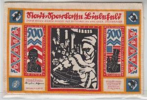 500 Mark Banknote Inflation Seide 1922 fast Kassenfrisches Bielefelder Notgeld