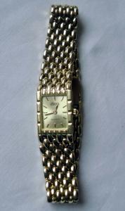 Schöne goldene Damen Armbanduhr 585er Gold 14 K mit Armband aus 585er Gold