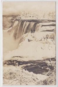 10818 Foto Ak Niagara Falls mit gefrorenen Wasserfällen 1914