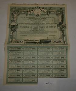 100 Franc Aktie Société Sully pour le Perfectionnement de l'industrie (128124)