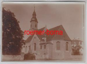 76704 Original Foto Glaubitz Kirche um 1930