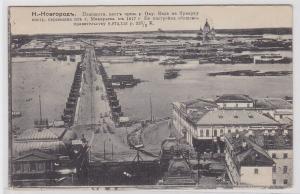 88200 AK Novgorod Plashkotn Brücke - Blick auf den Fluss 1911