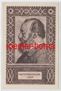 73346 Schweiz Bundesfeier Ganzsachen Ak Gottfried Keller 1919