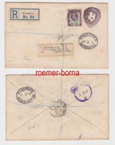 82546 seltener Einschreiben Brief Großbritannien nach Alexandria Ägypten 1911