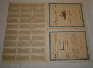 100 $ Aktie Caisse Autonome des Monopoles du Royaume de Roumanie 1929 (127050)