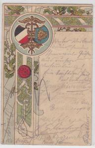 91559 AK Deutschnationaler Handlungsgehilfen Verband (DHV) Wappen 1904