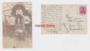 80439 Foto Ak mit Stempel Deutsche Seepost Ost Afrika Linie 25.7.1914
