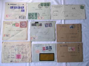 Sammlung von 43 interessanten Briefen aus aller Welt vor 1945 (105707)