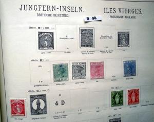 Kleine Briefmarkensammlung Jungferninseln Virgin Islands