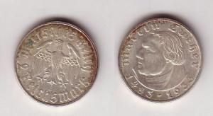2 Mark Silber Münze Martin Luther 1933 E Jäger 352 (102285)