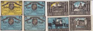 4 Banknoten Notgeld Gemeinde Eickel 1.3.1921 (122750)