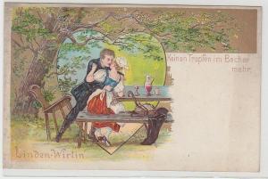 42306 Präge Lied Ak Linden-Wirtin
