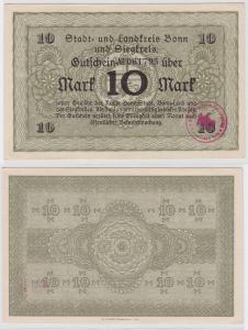 10 Mark Banknote Stadt- & Landkreis Bonn und Siegkreis ohne Datum (121737)