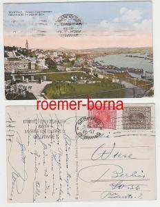 75174 Ak Belgrad Serbien Totalansicht mit Hafen 1911