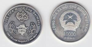 10000 Dong Silber Münze Vietnam 2006 FIFA Fußball WM Deutschland (106808)