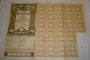 10000 Lei Aktie Regatul Romaniei Ministerul Finantelor Datoria Publica (127060)