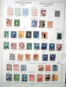 Schöne hochwertige Briefmarkensammlung Argentinien 1858 bis 1935