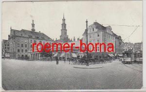 80235 Feldpost Ak Posen alter Markt 1916