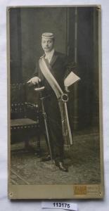 113175 Original Studentika Kabinett Foto Student Halle an der Saale um 1910