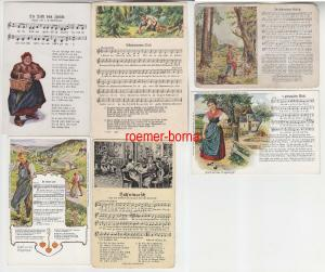 82222 / 6 Lied Ak in erzgebirgischer Mundart um 1920