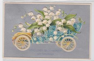 08588 Glückwunsch AK Herzlichen Glückwunsch zum Geburtstage, Glöckchenmobil 1908