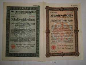 12,50 Mark Aktie Reichsschuldenverwaltung Berlin 25.September 1925 (131089)