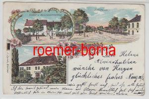 78533 Ak Lithographie Gruss aus Leichnam Gasthof usw. 1904
