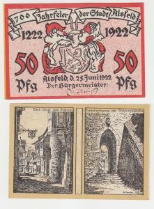 50 Pfennig Banknoten Notgeld 700 Jahrfeier der Stadt Alsfeld 1922 (113208)