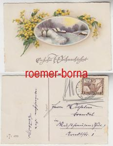 76862 Weihnachts Ak mit Frankatur 3 Pfennig Tannhäuser 1933