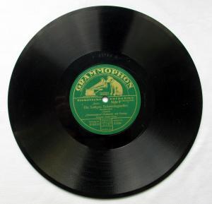 124721 Grammophon Schellackplatte Zum Städtle hinaus um 1930