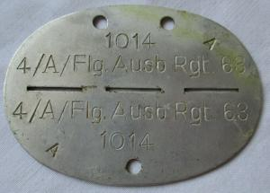 Erkennungsmarke Flieger Ausbildungs Regiment 63 Luftwaffe 2.Weltkrieg (114340)