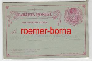 76041 seltene Ganzsachen Antwort Postkarte Chile 2 Centavos 1882/1888