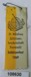 Stoffabzeichen Schützenbruderschaft Freienohl Schützenfest 1969 (108630)