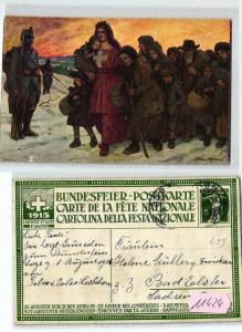 11424 Ganzsachen Ak Bundesfeier Schweiz 1.August 1915