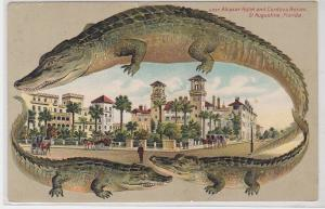 91297 AK Alcazar Hotel and Cordova Annex St. Augustine (Florida) zw. Krokodilen