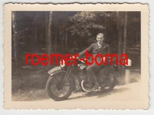 73724 Original Foto altes Motorrad Oldtimer um 1935