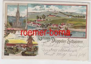 75125 Mehrbild Ak Gruss von den Düppeler Schanzen 1901